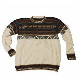 L | Scandinavian | Knitted Winter Ski Sweater